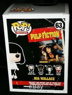 Rare Uma Thurman Signé Fiction Mia Wallace Pulp Funko Pop Psa Jsa