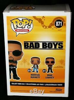 Rare Will Smith Signé Mike Lowrey Bad Boys Autograph Funko Pop Psa Coa