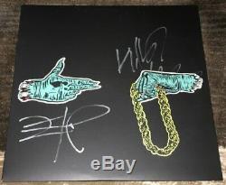 Run Joyaux Signée Autograph Album Record Vinyl Killer Mike & El-p Withproof