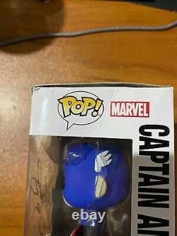 Sebastian Stan A Signé Sdcc Bucky Cap Cap Cap America 06 Funko Pop Jsa Nn49006