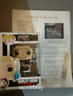 Signé / Autographié Margot Robbie Harley Quinn Suicide Squad Jsa Lettre Funko Pop