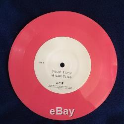 Signé Billie Eilish 7 Disque Vinyle Party Favors Autographié Rose Coachella