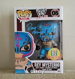 Signé Rey Mysterio Funko Pop Jsa Coa Seven Eleven Autographe Exlusif