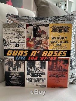 Slash Guns Autographié Signé N ' Roses Live Era'87-'93 Vinyl Record 4 Lp