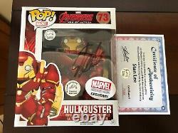 Stan Lee A Signé Hulkbuster Funko Pop Withcoa Marvel Collectors Corps Avengers