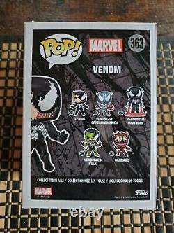 Stan Lee Autographié / Signé Venom Funko Pop (# 363) Avec Coa