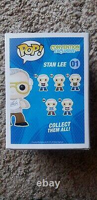 Stan Lee Funko Lot (convention Exclusive 01 Signé, Or Et Argent Exclusif)