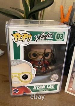Stan Lee Funko Pop 03 Signé Avec Coa