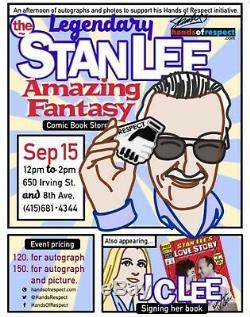 Stan Lee Objets De Collection Signé Supercon 2014 Afficher Convention Exclusive Funko Pop