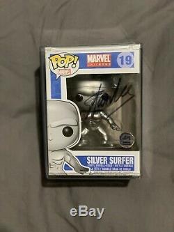 Stan Lee Retraité Signé Marvel # 19 Silver Surfer Funko Pop Vinyle Rare