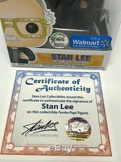 Stan Lee Signé Walmart Gardiens Exclusifs Du Funko Galaxy Pop # 281 Bas