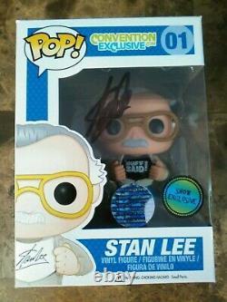 Stan Lee Signed Convention Exclusive Funko Pop 01 Authentic Excelsior Approuvé