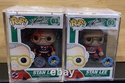 Stan Lee Superhero Rouge Métallisé Chrome Funko Pop Signé Avec Coa 6 De 12