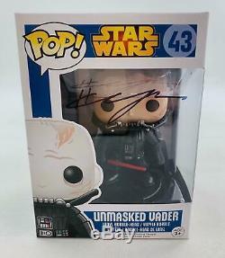 Star Wars Darth Vader Unmasked Funko Pop Autographié Par Hayden Christensen