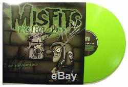 Super Rare Signe Misfits Autographed 1950 Projet Vert Vinyl Lp Withpics