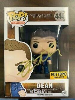 Supernatural Jensen Ackles Dean Funko Pop Vinyle Autographié Signé Coa # 1