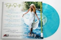 Taylor Swift A Signé Son Premier Album Éponyme 2x Lp Color Vinyl Record +jsa Loa