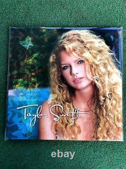 Taylor Swift Main Signé Turquoise Vinyl Autographe Authentique Sold Out