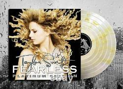 Taylor Swift Signé Fearless Autographed Platinum Gold Vinyl Album Lp Le