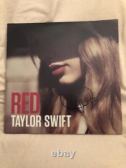 Taylor Swift Signée Rouge Vinyle Signé Autographe Authentique Rare
