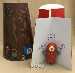 Tim Biskup Signé 8 & 4 Red Helper Set Autographié 2004 Critterbox Sketch Nouveau