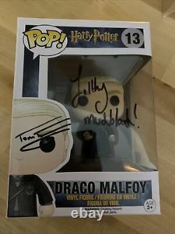 Tom Felton Signé Harry Potter Draco Malfoy 13 Funko Pop Jsa P85787