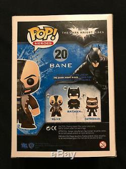 Tom Hardy Autographiée Bane Funko Pop Retraités Rare Exacte Preuve Batman Psa / Adn
