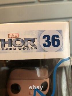 Tom Hiddleston A Signé Loki Funko Pop 36 Thor The Dark World Beckett Bas Coa Rare