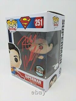 Tom Welling Signé Superman #251 Exclusive Funko Pop Autographié Jsa