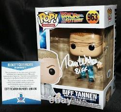 Tom Wilson Signed Biff Tannen Back To Future Autograph Funko Pop Beckett Psa