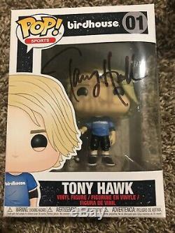 Tony Hawk Signé Birdhouse Funko Pop Autographié Auto Jsa Coa