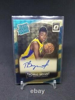 Vinyle D'or 1/1 Thomas Bryant Optic 2017-18 Évalué Rookie Auto Rc Autographe 1 De 1