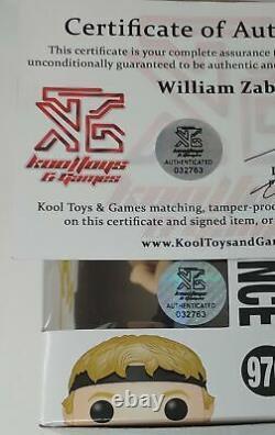 William Zabka Signé Cobra Kai Johnny Lawrence Funko Pop Karate Kid Mint Coa