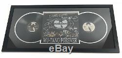 Wu Tang Clan Signé Forever 12 Encadré 9 Vinyl Record Membres Rza Raekwon Jsa