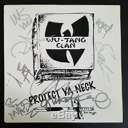 Wu-tang Clan Complet Signé Protégez Ya Neck Vinyl Record Rza Method Man 6 Rad