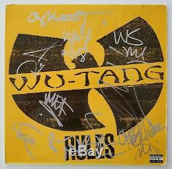 Wu-tang Clan Complet Signé Règles De Disque Vinyle 12 Rza Method Man Gza Rad 6