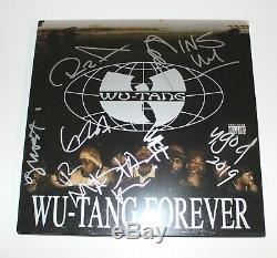 Wu-tang Clan Groupe A Signé Wu-tang Toujours De Disque Vinyle Lp Coa Rza Method Man X8